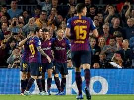 Messi pourrait manquer le Clasico. AFP