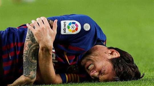 Messi, lesionado para las tres próximas semanas. EFE