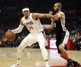 Imagen de archivo del jugador de los Clippers Tobias Harris (i). EFE/Archivo
