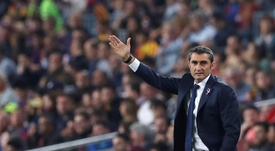 Valverde has amassed a half century of games at the Barça helm. EFE