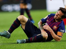 Messi comenzó su recuperación. EFE