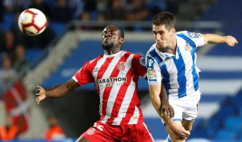 Seydou Doumbia saldrá del Girona en los próximos días. EFE/Archivo