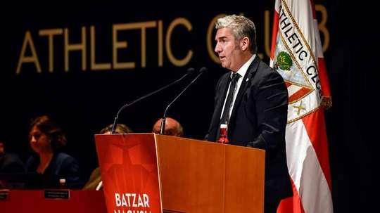 Urrutia repasó varios temas de la actualidad del Athletic. EFE/Archivo