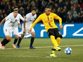 Young Boys y Valencia empataron en la primera vuelta. EFE