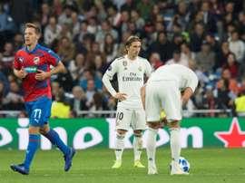 El Madrid ganó sin hacer un buen partido. EFE