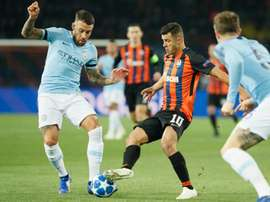Nicolas Otamendi in Champions League action for City. EFE