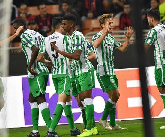 Sanabria scored first for Betis. EFE
