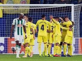 El Villarreal ha goleado al Rapid. EFE