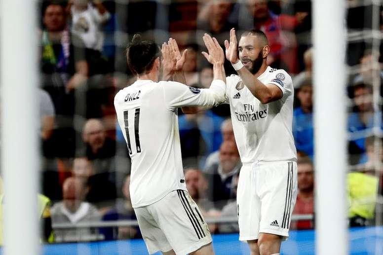 Bale y Benzema mantienen la sociedad sin Cristiano. EFE