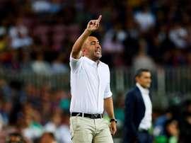 Abelardo valoró el empate ante el Sevilla. EFE/Archivo