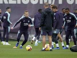 O Barça sofre com as lesões. EFE