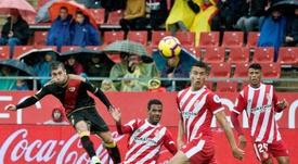 El partido contra el Rayo le ha pasado factura al Girona. EFE