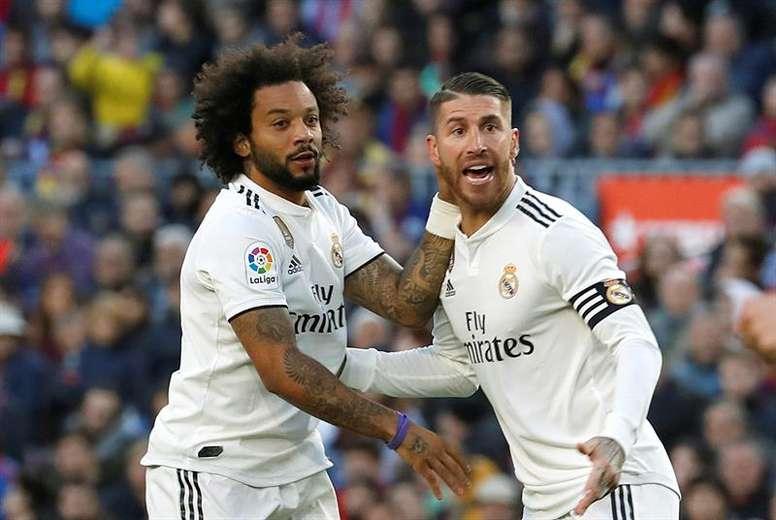 Marcelo e Sergio Ramos podem chegar a uma marca incrível. EFE