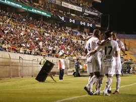 Once Caldas le recuerda a Nacional lo que importa en esto del fútbol. EFE/Archivo