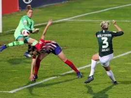 El Wolfsburgo ha arrollado al Atleti Femenino. EFE