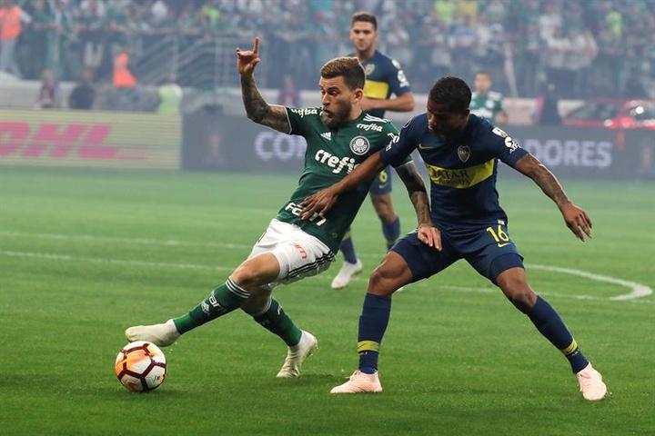 Lucas Lima é afastado do Palmeiras. AFP