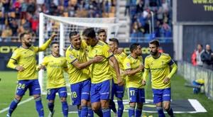 Los gaditanos suman 15 goles en 13 jornadas. EFE