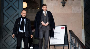 Bendtner pasó por los juzgados de Copenhague. EFE