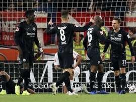 El Eintracht ya es tercero en Alemania. EFE/Archivo