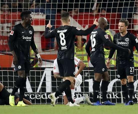 El Eintracht lo tuvo fácil ante el Stuttgart. EFE