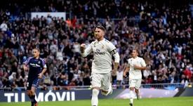 Ramos a assuré ne pas avoir entendu les sifflets. EFE
