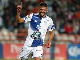 Víctor Guzman anotó un póquer de goles. EFE