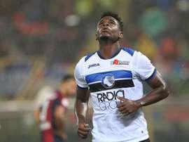 Zapata se quedó sin marcar ante el Cagliari. EFE
