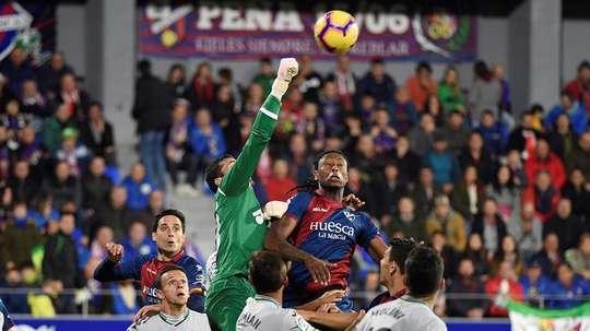 El delantero amargó el gran partido del Huesca. EFE/Archivo