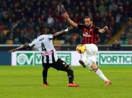 El Milan ha vuelto a ganar en el último suspiro. EFE/EPA