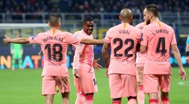 Al Barça sólo le faltó puntería. EFE
