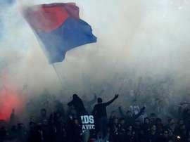 Les ultras du PSG ont été bloqué à la frontière allemande. EFE