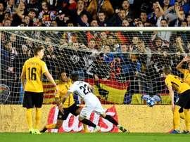 El Young Boys dijo adiós a la Champions en Mestalla. EFE