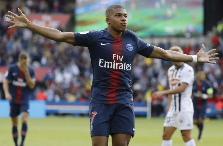 Mbappé tiene contrato con el PSG hasta 2022. EFE/Archivo