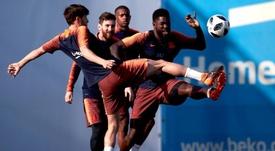 Messi y Umtiti regresan al grupo. EFE/Archivo