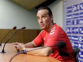 El técnico habló sobre el partido ante el Sporting. EFE/Archivo