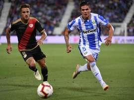 Óscar Trejo afirmó que en el Rayo se siente como en casa. EFE