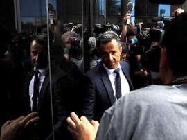 Mendes a colloquio con Paratici. AFP