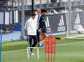 Vallejo volvió a entrenar con el grupo el pasado viernes. EFE