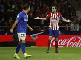 Godin adds to manager Simeone's central defensive woes. EFE