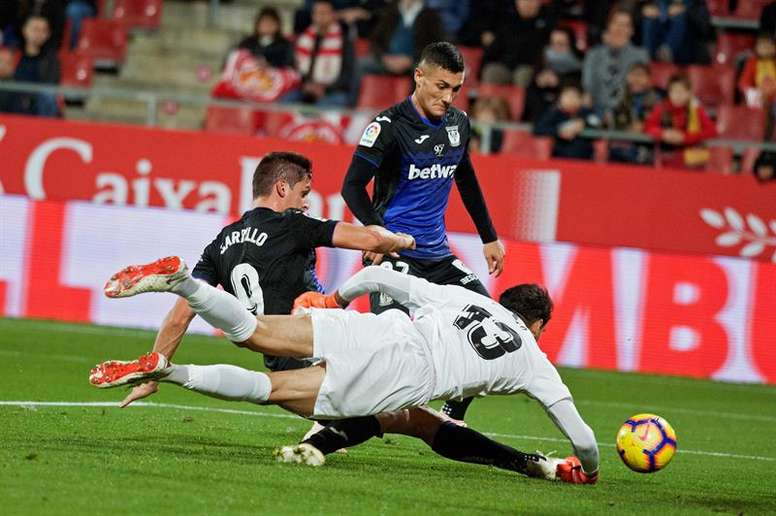 El Leganés no pasó del empate a cero frente al Girona. EFE