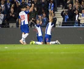 El Oporto ganó en los instantes finales. EFE