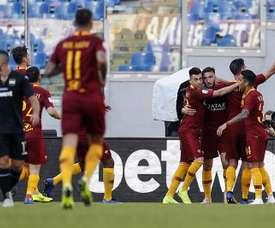 La Roma goleó a la Sampdoria. EFE