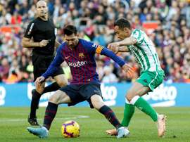 Messi returned for Barca against Betis. EFE