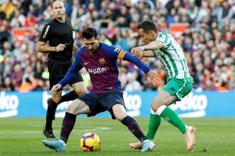 El plan de Setién contra el Barça. EFE
