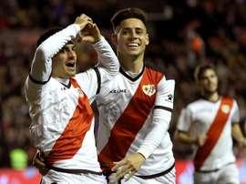 Álvaro anotó el segundo gol del Rayo. EFE