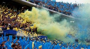 Boca Juniors y River Plate, en el estadio la Bombonera de Buenos Aires (Argentina). EFE