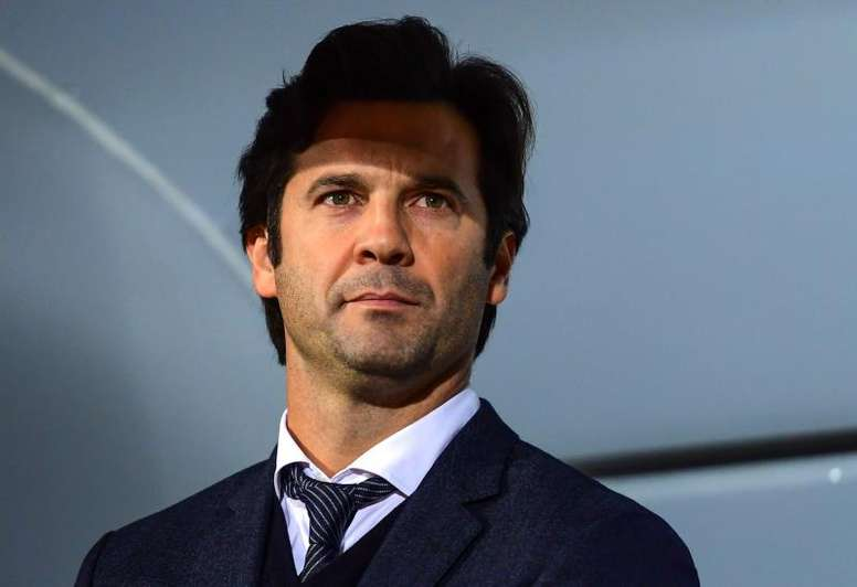 L'entraineur du Real Madrid, Solari. EFE