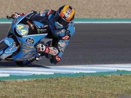 El piloto piloto español de moto3, Aron Canet de (Estrella de Galicia0,0 ). EFE/Archivo