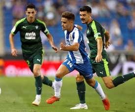 Melendo destacó el buen momento del Espanyol. EFE/Archivo