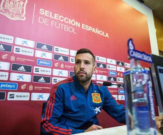 Jordi Alba évoque sa relation avec Alba. EFE